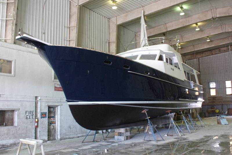 Exterior Refinishing on Gypsea, 53' Motoryacht